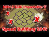 [Speed Building 2016] HDV 9 anti 3 étoiles ! Anti-cochons ,Anti-Gowipe , Anti-QueenWalk