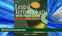 For you Legal Terminology with Flashcards (West Legal Studies)