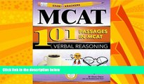 Big Deals  Examkrackers 101 Passages in MCAT Verbal Reasoning  Best Seller Books Most Wanted