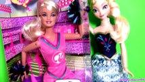 Barbie Cheerleader Elsa Disney Frozen Tryouts Cheer Team Muñeca by Disneycollector