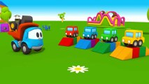 First toons - Leo and new car trailer. Kids cartoons. Kids animations. Educational games