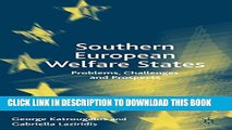 [PDF] Southern European Welfare States: Problems, Challenges and Prospects Full Online