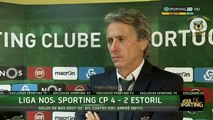 Jorge Jesus Flash Interview à Sporting TV -- Sporting 4 x 2 Estoril 6ª Jorn Liga 2016-17