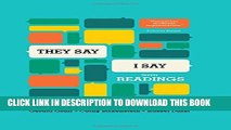 """[Read PDF] """"They Say / I Say"""": The Moves That Matter in Academic Writing, with Readings (Third"""