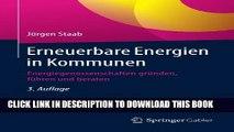 [PDF] Erneuerbare Energien in Kommunen: Energiegenossenschaften gründen, führen und beraten