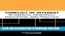 [PDF] Conflict of Interest in Medical Research, Education, and Practice Popular Online