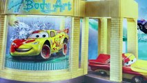 NEW Pixar Cars 2 Color Changers Ramones Auto Shop Lightning McQueen Mater Boost Sally Sheriff!