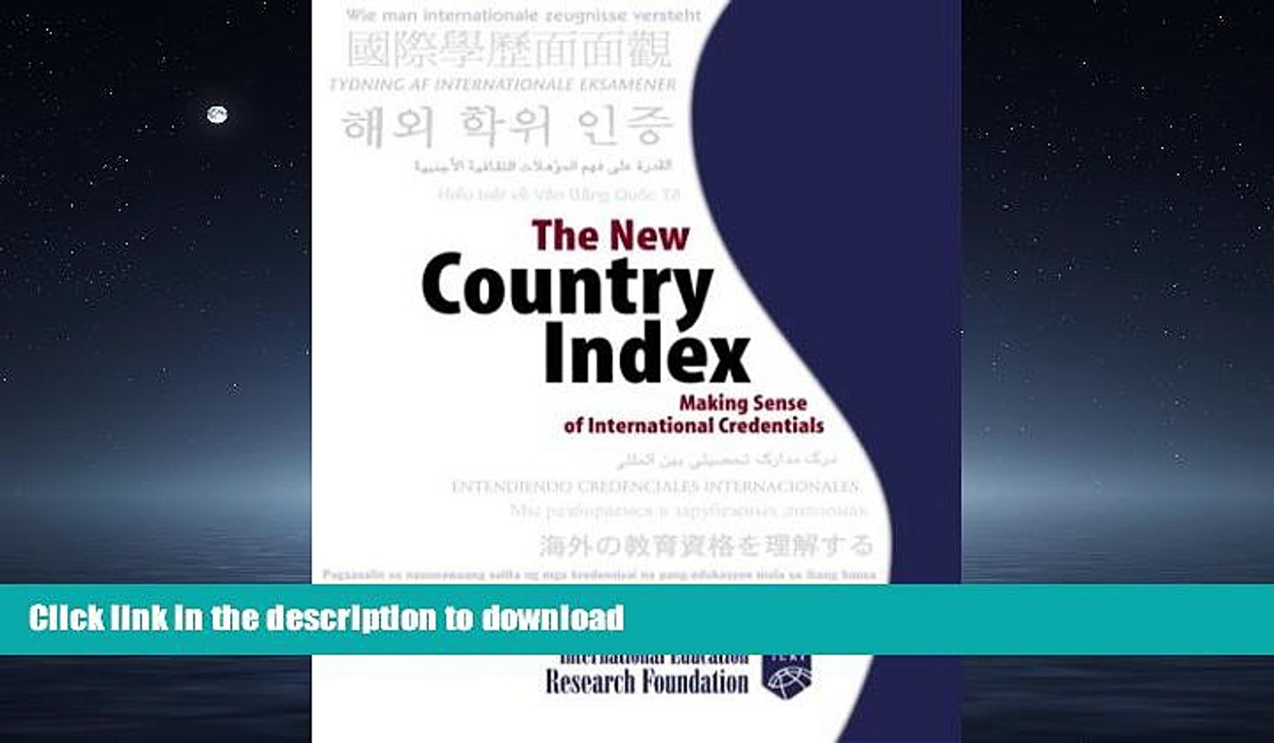 FAVORIT BOOK The New Country Index: Making Sense of International Credentials READ EBOOK