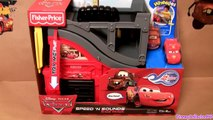 Disney Cars Wheelies Playset Speed and Sounds Lightning Mcqueen Mater Race Track in Radiator Springs