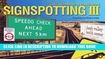 [PDF] Signspotting III  Lost and Loster in Translation (Signspotting  Lost   Loster in