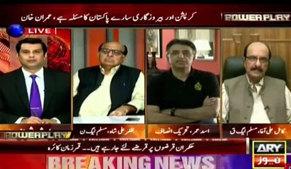 Look at the pathetic face of Zafar Ali Shah after listing worst performance of PML-N