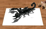 Speed Drawing of 3D Emperor Scorpion How to Draw Time Lapse Art Video Colored Pencil Illustration Artwork Draw Realism