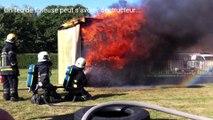 Les dangers d'un feu de friteuse: les pompiers de Braine-l'Alleud mettent en garde