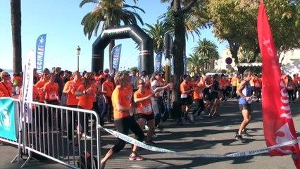 Vidéo. Urban trail pour la ligue contre le cancer à Ajaccio