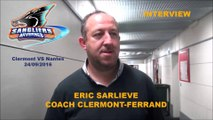 HH Interview 2016-09-24 Eric Sarliève Coach Sangliers Arvernes - D1 - Clermont VS Nantes