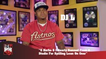 DJ L - G Herbo & I Nearly Banned From A Studio For Spilling Lean On Gear (247HH Exclusive) (247HH Exclusive)