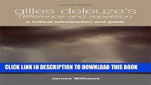 [PDF] Gilles Deleuze s Difference and Repetition: A Critical Introduction and Guide Popular Online