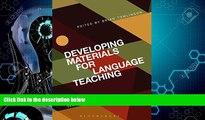 Big Deals  Developing Materials for Language Teaching: Second Edition  Best Seller Books Most Wanted