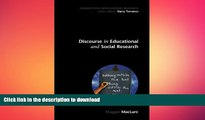 READ BOOK  Discourse in educational and Social Research (Conducting Educational Research)  BOOK