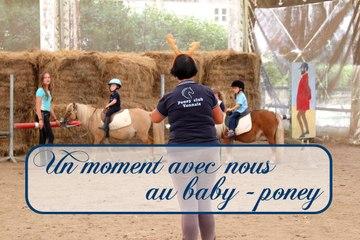 Un moment avec nous au baby-poney