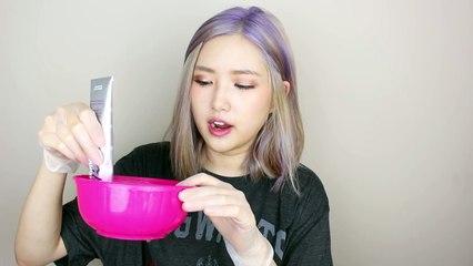HOW TO DYE YOUR HAIR PURPLE AT HOME - 보라색 셀프염색 (KOREAN SUB)