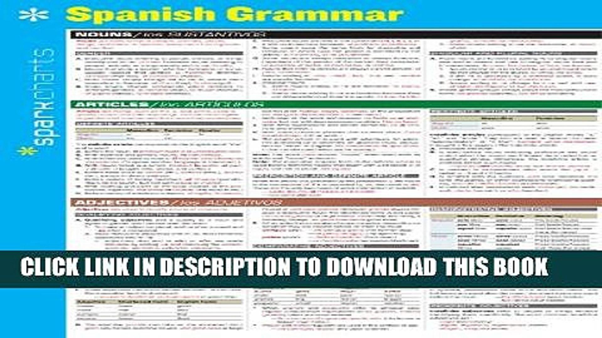 [PDF] Spanish Grammar SparkCharts Full Colection