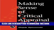 [PDF] Making Sense of Critical Appraisal (Hodder Arnold Publication) [Full Ebook]