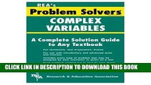 Collection Book Complex Variables Problem Solver (Problem Solvers Solution Guides)