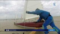 Char à voile : le championnat d'Europe sur les plages normandes