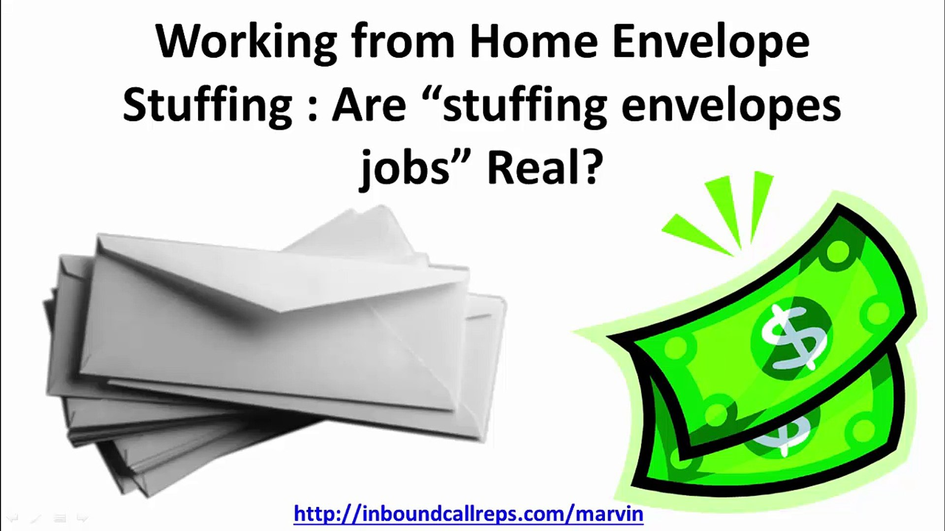 "Working from Home Envelope Stuffing : Are ""stuffing envelopes jobs"" Real?"