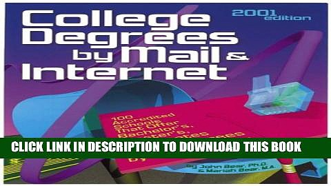 [PDF] College Degrees by Mail and Internet (Bear s Guide to College Degrees by Mail   Internet)