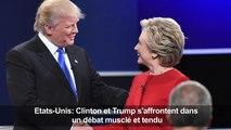 """Clinton accuse Trump d'inventer """"des retombées économiques"""""""