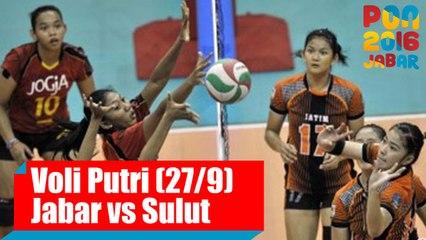 Voli Indoor - (Putri) Jawa Barat vs Sulawesi Utara, Selasa (27/9)