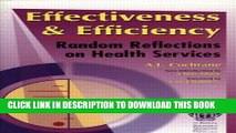 Effectiveness   Efficiency: Random Reflections on Health Services Paperback