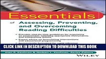 New Book Essentials of Assessing, Preventing, and Overcoming Reading Difficulties (Essentials of