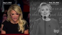 Hillary Clinton echoes Megyn Kelly, saying Trump 'called women pigs, slobs and dogs'