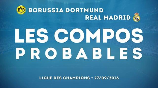 Borussia Dortmund - Real Madrid : les compos probables !