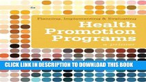 [PDF] Planning, Implementing,   Evaluating Health Promotion Programs: A Primer (6th Edition)