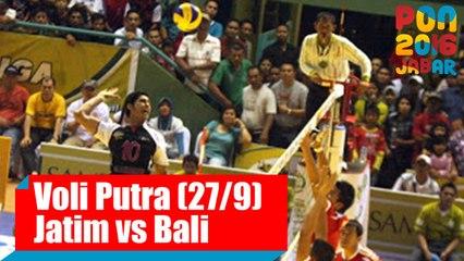 Voli Indoor - (Putra) Jawa Timur vs Bali, Selasa (27/9)