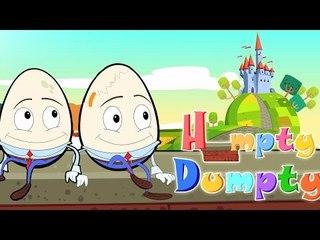 Humpty Dumpty assis sur un mur | comptines en français