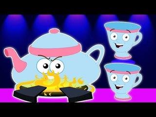 Je suis un peu Teapot | Cartoon Pour les enfants | Popular nurserie Chanson |I am a Little Teapot