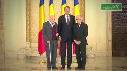 Neagu Djuvara și Mihai Șora, decorați de preşedintele Klaus Iohannis