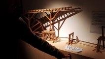 La maquette du système de pompage de l'eau dans le filon des trois rois à Banca