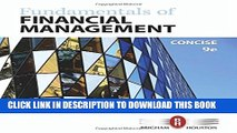 New Book Fundamentals of Financial Management, Concise Edition
