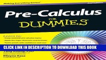 [PDF] Pre-Calculus For Dummies Full Colection