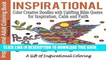 Inspirational Adult Coloring Book: Color Creative Doodles with Uplifting Bible Quotes for