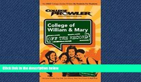 READ book  College of William   Mary: Off the Record - College Prowler (College Prowler: College
