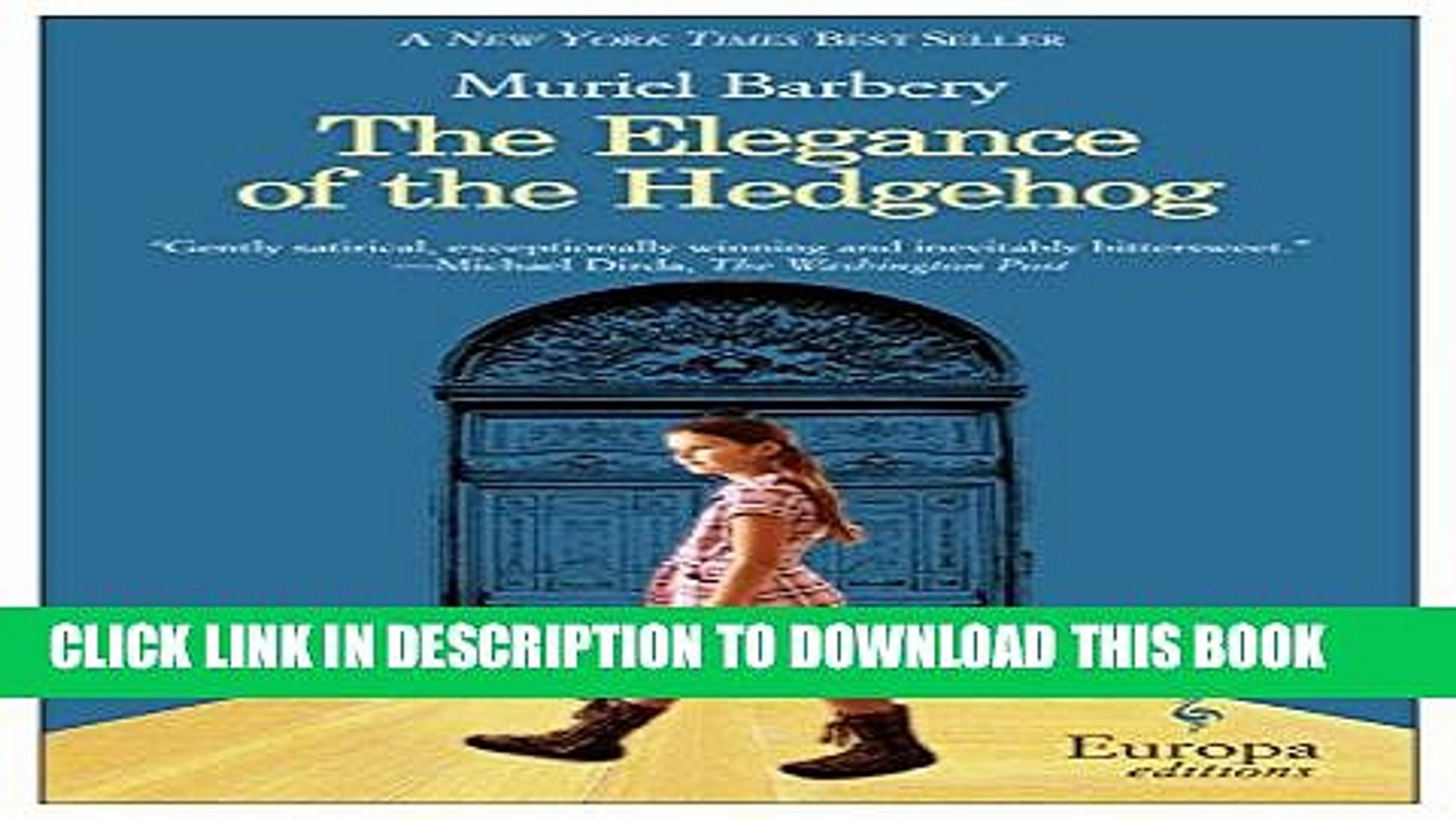 the elegance of the hedgehog free download pdf