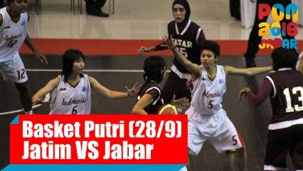 Bola Basket - (Putri) Jawa Timur vs Jawa Barat, Rabu (28/9)