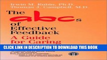 Collection Book The ABCs of Effective Feedback: A Guide for Caring Professionals